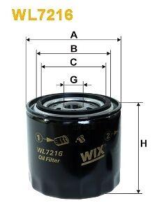 Oil Filter WIX WL7216