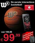 Wilson X-connected Basketbal; nu met 50% korting
