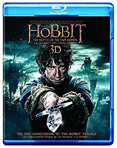 Hobbit 3D Blu Ray Combo Battle of the 5 Armies NEW