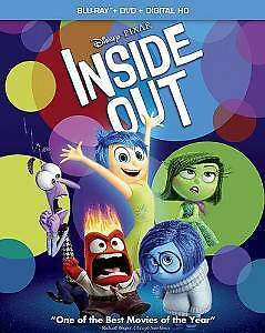 INSIDE OUT BLU RAY DVD DISNEY PIXAR