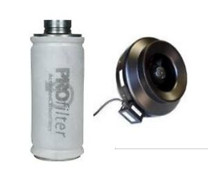"""Profilter 45s and Stealth F4 4"""" inline fan Combo"""