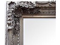 New Silver or cream Carved Louis Large Ornate Carved French Frame Wall Leaner