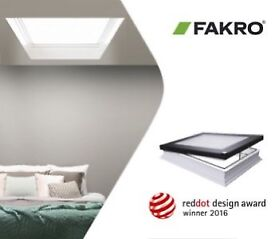 VELUX style FAKRO roof windows with flashing kit to suit slate or tile roof. Full range. From £150.