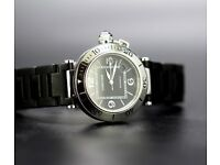 Unisex Cartier Seatimer Pasha Edition with Cartier Box in mint condition