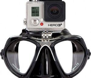 Masque de plongée haut de gamme avec fixation Go Pro