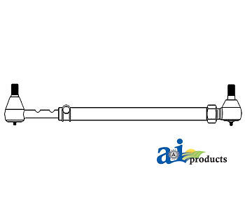 A-553327 Massey Ferguson Parts Tie Rod Assy 20c 230 245
