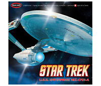 Star trek Polar lights Enterprise A 1/350 scale with extra Aztec