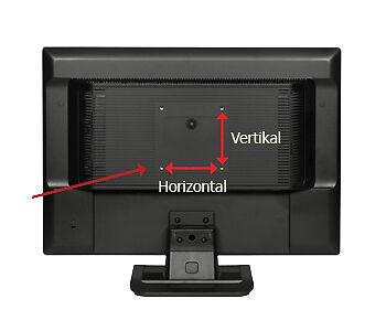 VESA-Löcher des Bildschirms auf der Rückseite