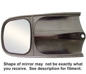Extended clip on tow mirrors