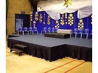 Portable Mobile Stage Platform for Events, Fashion Shows, Concerts, Festivals, Weddings, Partys, DJs