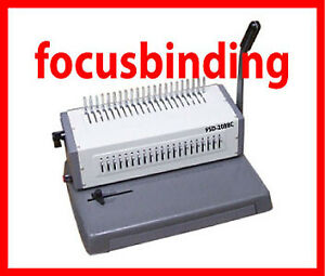 New Heavy Duty Metal 20pgs/Punch,500 Cerlox Comb Binding Machine
