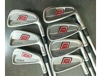 Titleist 755 irons 4-pw, stiff shafts, New Grips
