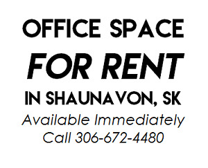 Office Space for RENT in SHAUNAVON, SK