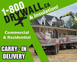 Contractors - Let Us Do the Carry-In | Drywall Supplier