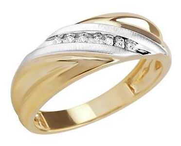 zales mens diamond accent slant wedding band in 10 kt gold - Zales Mens Wedding Rings