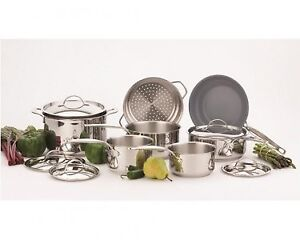 Paderno Canadiana Stainless Cookware Set - 12Pc