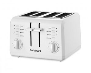 4 slice compact toaster-white