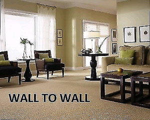 Complete wall to wall carpet installation services.