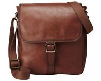 Fossil Estate City Leather Bag - Cognac