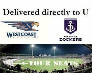 1-4 West Coast Eagles v Fremantle Dockers DERBY Tickets Subiaco Subiaco Area Preview