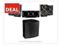 WHARFEDALE DIAMOND 220 home Thatre package 2 x front + 2 x back + center + sub