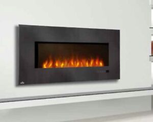 napoleon efl48h flush mount electric fireplace modern