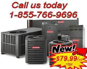 96%AFUE Furnace, A/C, Water Heater Rental FREE INSTALL/SERVICE