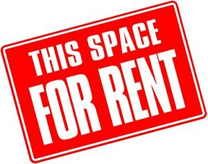 A space for rent  180 square feet