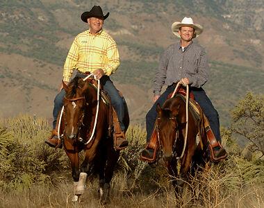 John Lyons (L) und Keith Hosman, Parachute, Colorado