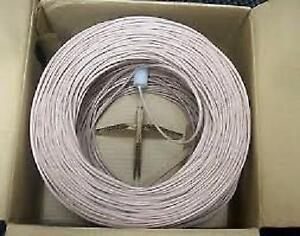 Weekly promo! CAT3 UTP 2PAIRS SOLID 100MHZ STANDARD 1000FT, ROHS, ISO 11801,WHITE