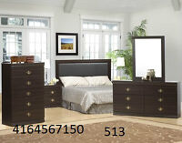 BRAND NEW BEDROOM SET SPECIAL WITH LEATHER HEADBOARD