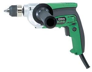 "Hitachi Drill D10VF 3/8"" 9A 3000RPM"