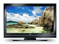 """32"""" black LCD tv with built in freeview HDMI and remote excellent picture can deliver"""