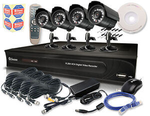 Swann DVR4-1200 4 Channel DVR  4 x PRO-510 Cameras w/ Smartphone Viewing