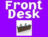 We need experienced Front Desk Receptionist