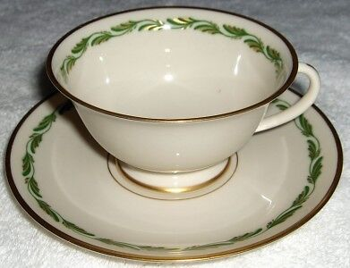 Franciscan Fine China Arcadia Green cup & saucer set-NR ()