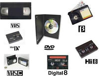 Transfers & Duplication of all media..Beta /Digital 8 /VHS +More
