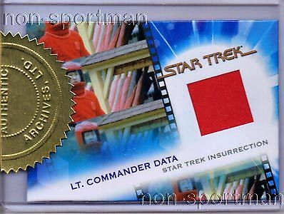 QUOTABLE STAR TREK MOVIES COSTUME CARD MC17 DATA - Data Star Trek Costume