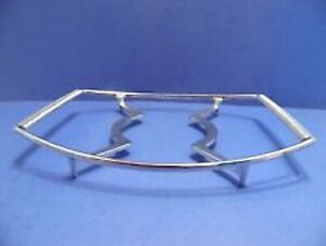 SILVER METAL TRIVET FOR BLUE CORNFLOWER CASSEROLES