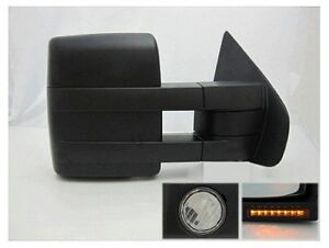 Tow Mirror Fits F150 2007-2014 Power With Puddle Light