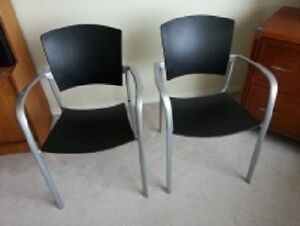 Silver and Black Chairs from Kiosk in Toronto
