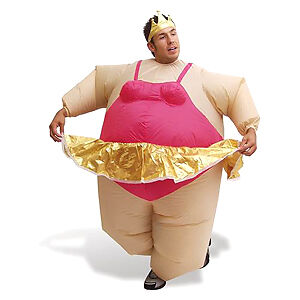 Artis Inflatable Ballerina Fancy Dress Costume/Suit/Outfit