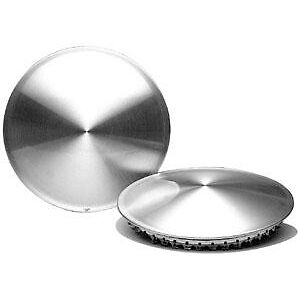 "13 ""Bonneville SCTA Style Stanless Steel snap on Spun  Moon disc's (1 Pair )"
