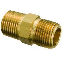 """3/8"""" NPT Brass Hex Nipples"""