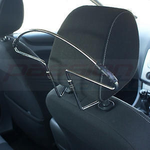 IN-CAR-HEADREST-MOUNT-CHROME-METAL-COAT-HANGER-FOR-SUIT-SHIRT-CLOTHES-HEAD-REST