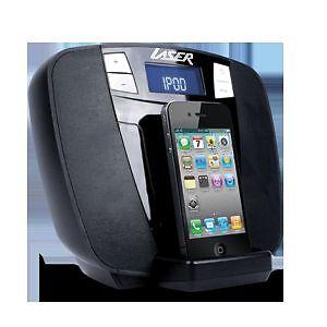 dab digital radio with iphone ipod dock charge speaker led display clock alar. Black Bedroom Furniture Sets. Home Design Ideas