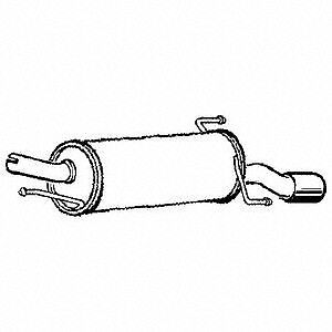 For Vauxhall Corsa 1.2L 16V 2000-2006 Exhaust Rear Back