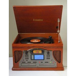 Steepletone Lancaster Nostalgic Record Player & CD Recorder