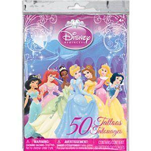 Disney princess temporary tattoos 50 pack all 7 princesses for Disney temporary tattoos