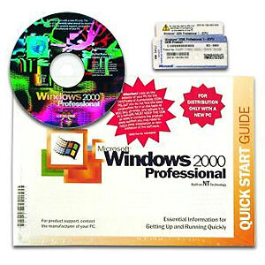 Microsoft Windows 2000 Professional w/SP2 Full Version NEW!!